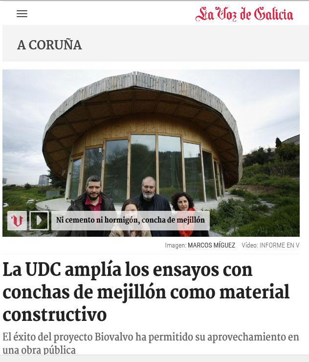 La UDC amplía los ensayos con conchas de mejillón como material constructivo